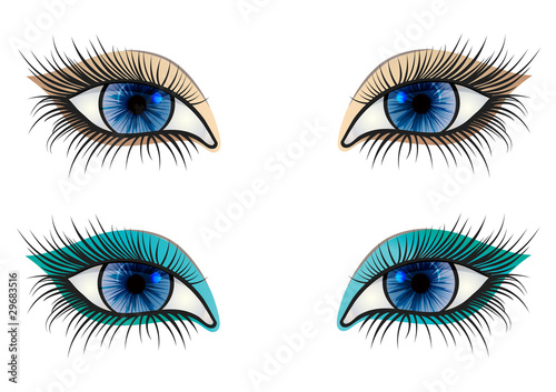 opened blue feminine eye