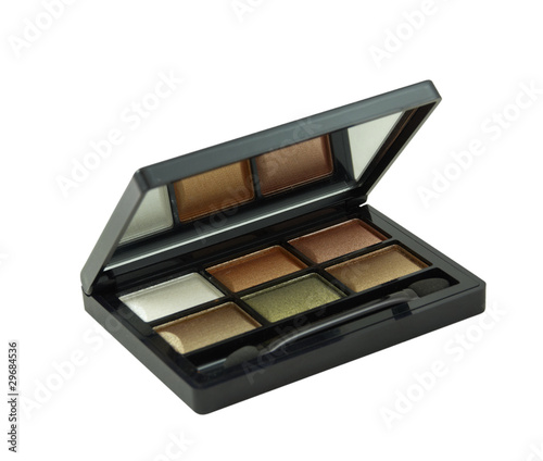 Eye shadow kit on a white