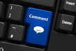 """""""COMMENT"""" Key on Keyboard (share forum opinion vote web button)"""