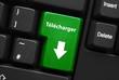 Touche TELECHARGER sur Clavier (téléchargement internet bouton)