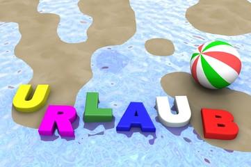 Schriftzug Urlaub