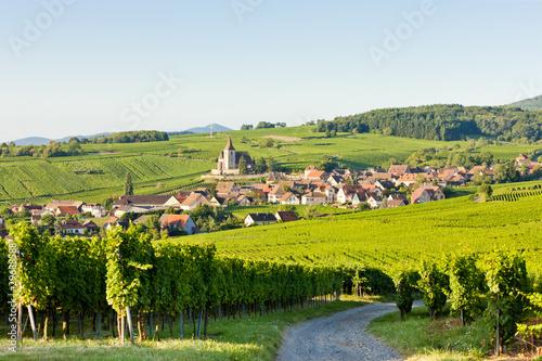 Leinwanddruck Bild Hunawihr, Alsace, France