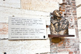 plate with verse from Romeo and Juliet in Verona, Shakespeare poster