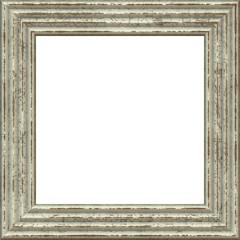 Cornice quadrata isolata su sfondo bianco