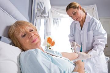 Nurse and a patient