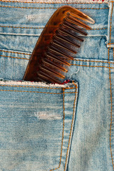 comb in jean pocket.