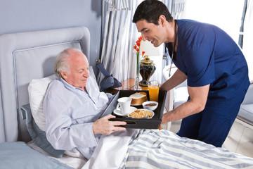 Breakfast in the hospital