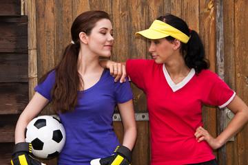 Fussballspielerinnen, football players