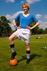 Fussballspielerin, football player