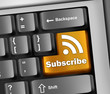 "Keyboard Illustration ""Subscribe"""