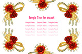 Red rose brooch poster