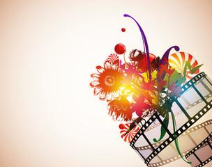 Floral Filmstrip Background