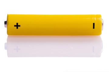 gelbe Batterie quer liegend
