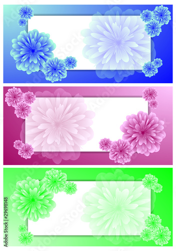 Set of horizontal vector banners