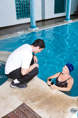 Consulting with a trainer