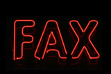 Fax neon signage poster
