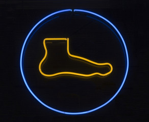 Foot neon signage