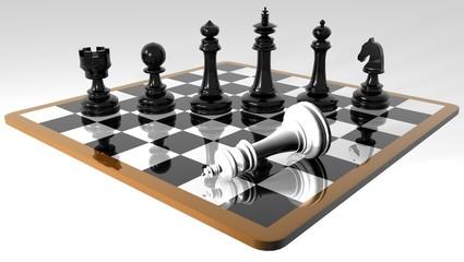 A chess game _ échec et mat
