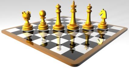 échec et mat _  A chess game