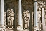 Romanesque sculptures of apostles poster