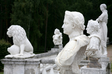statues in antique Roman style