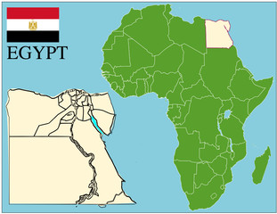 Egypt emblem map africa world business success background