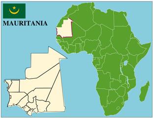 Mauritania emblem map africa world business success background