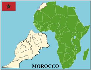 Morocco emblem map africa world business success background
