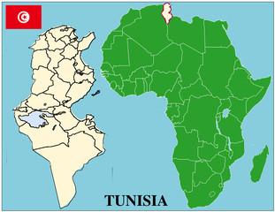 Tunisia emblem map africa world business success background