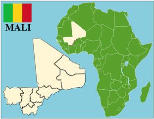Mali emblem map africa world business success background