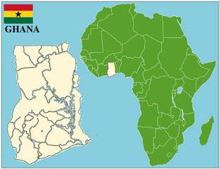 Ghana emblem map africa world business success background