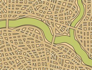 Blank street map