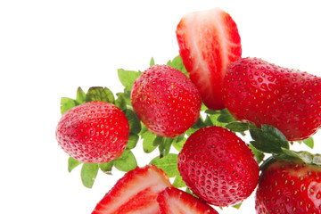 fresh raw strawberry
