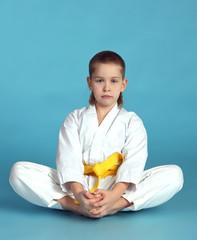 Мальчик в кимоно. Каратист.
