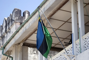 Flag on Sultan Palace, Stone Town, Zanzibar, Tanzania