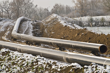 Gas pipeline under construction