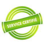 service certifié sur vignette verte poster