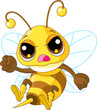 Cute angry Bee