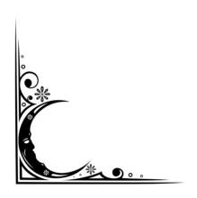 Mond, lune, luna, Ranke, Rahmen, Nacht, Träume