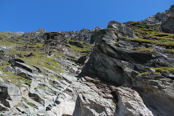 Cliff near Pasterze glacier