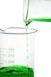 Pouring liquid chemicals