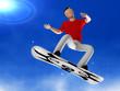 Snowboarder 3D man