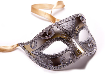 Silver mask.