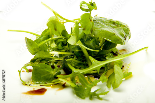 Small herb salad.