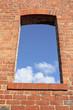 Open window in the brick wall