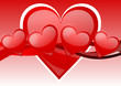 valentines background with red hearts