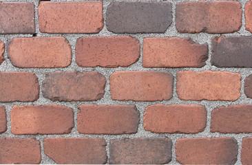 Backsteinmauer, alt