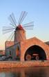Antico mulino a vento di Nubia in Sicilia