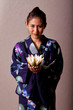 Beautiful japanese woman wearing kimono