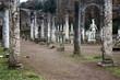 colonnade with greek statues at Villa Adriana near Tivoli